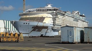 SYMPHONY OF THE SEAS and CELEBRITY EDGE under construction at STX France |4K