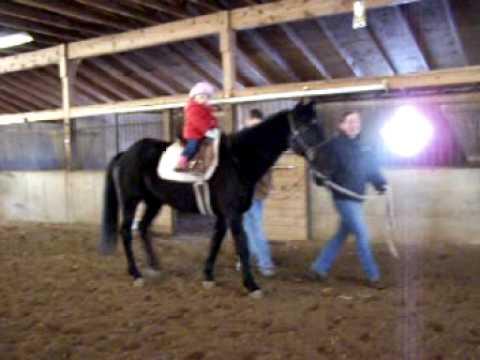 E's 1st horse lesson