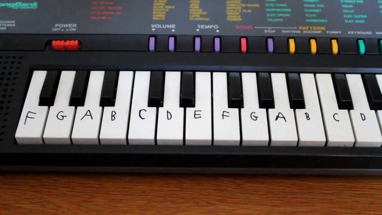 Yamaha Keyboard Key Labels