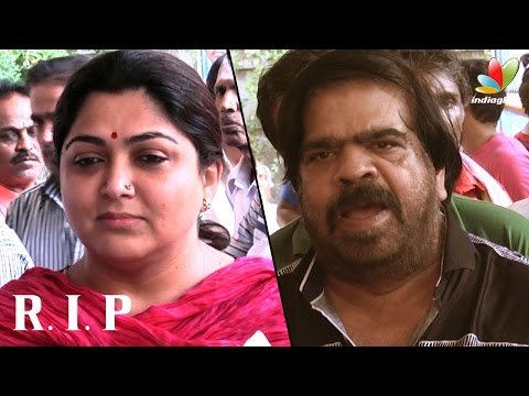Kushboo, T. Rajender and more celebs pay last respect to Film News Anandan | Death Video