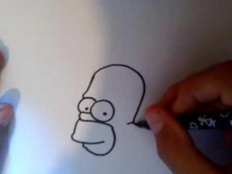 Dessiner homer simpson facilement youtube - Comment dessiner les simpson ...