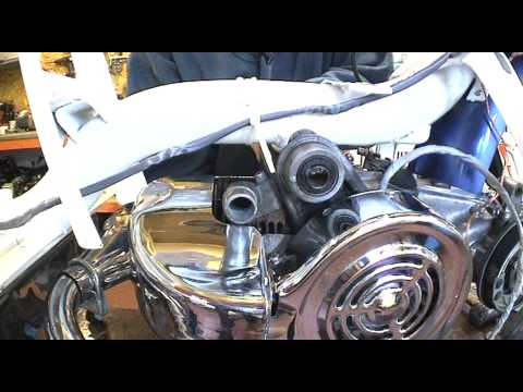 Fitting an engine to a Lambretta scooter