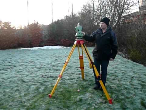 Setting up a total station over a point