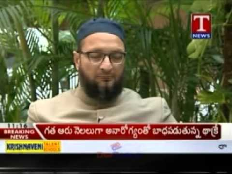 Asaduddin Owaisi Interview In T-news (elaan-e-jung) 14-11-2012 video