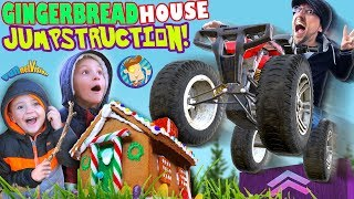 GINGERBREAD HOUSE JUMPSTRUCTION: The ATV JUMP (FUNnel Family Vlog Vision)