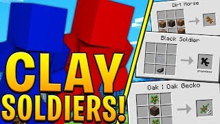 THE BIGGEST CLAY ARMY YOU HAVE EVER SEEN 200 VS 200 *CRAZY CLAY SOLIDER BATTLE* - Minecraft