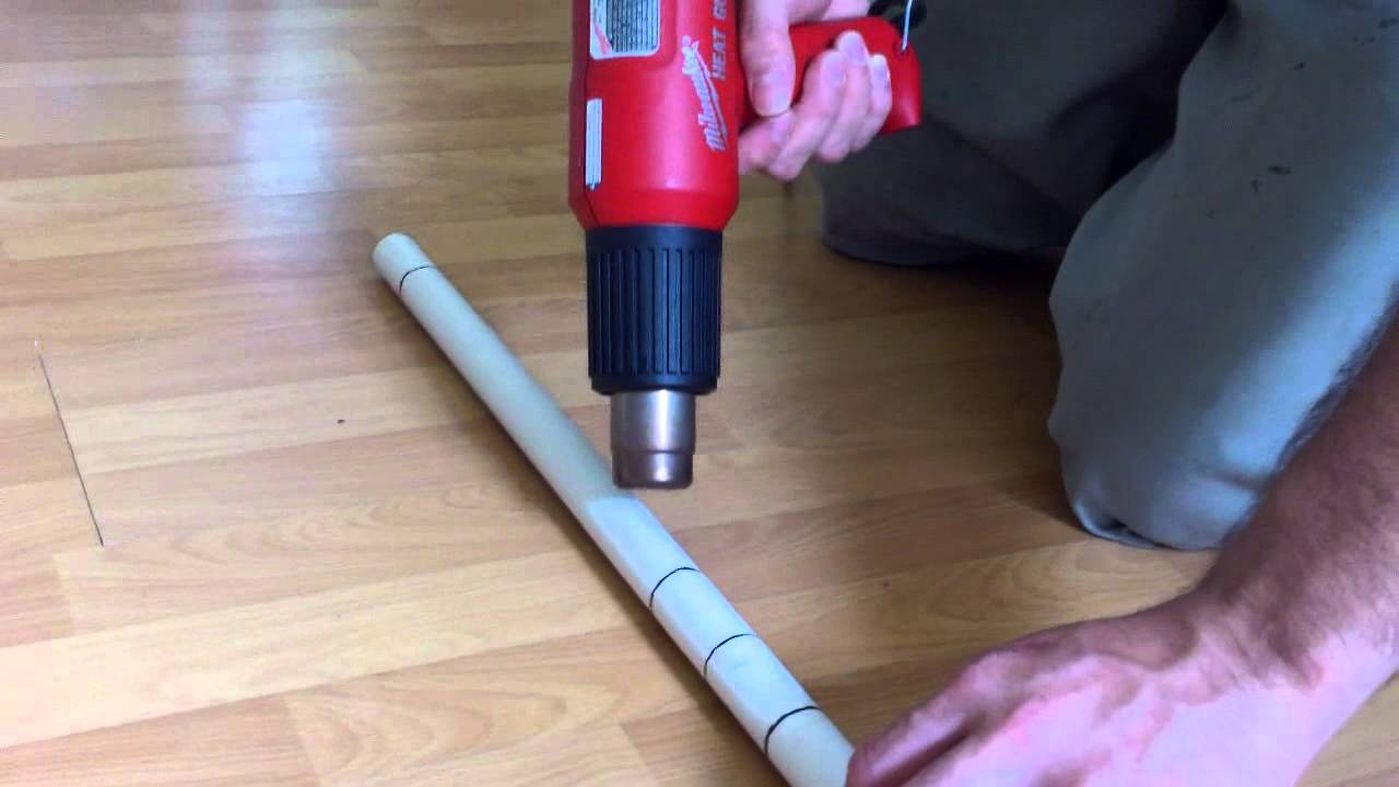 Flattening And Shaping The Pvc Bow Core Flattened Pvc
