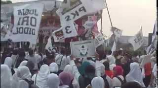 Aquarel Islam Cinta Keadilan PKS DIY 25 Maret 2014 Stadion Maguwoharjo Sleman Jogjakarta
