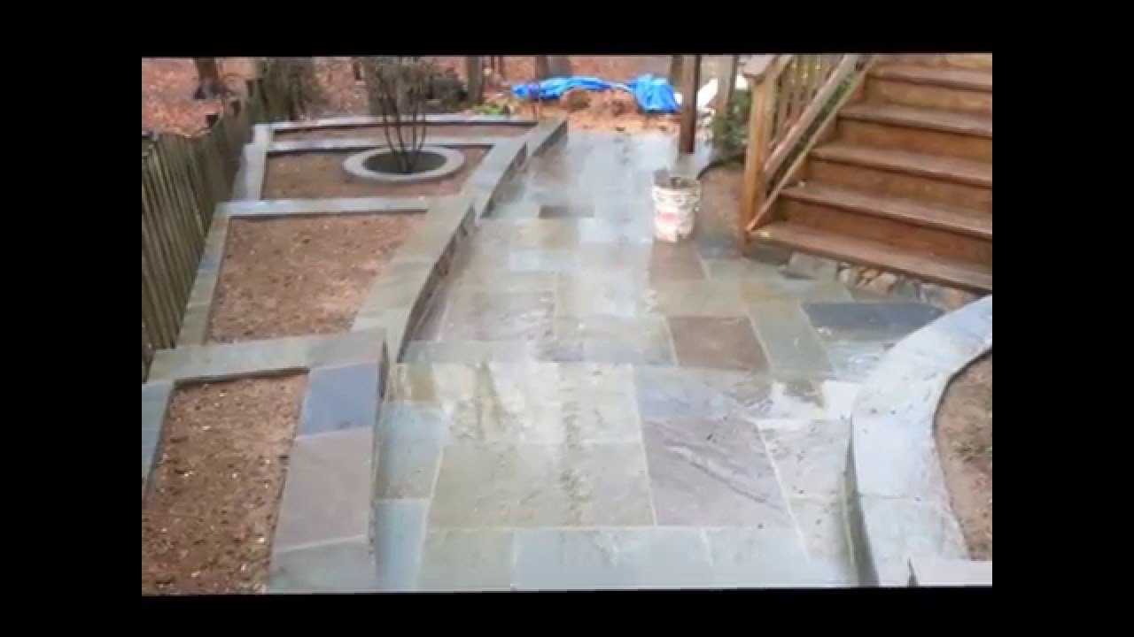 Driveway Flagstone Patio Roof And Drainage Installation
