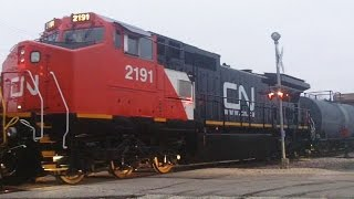 Wrecked CN 2191 Looking Brand New Again, Silvis, IL