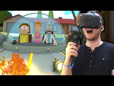 ИЗ СОРТИРА В КОСМОС! | Rick And Morty VR (HTC Vive VR) - Часть 2