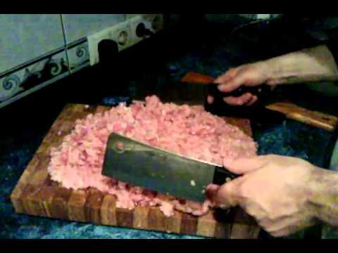 Как сделать топорик для фарша