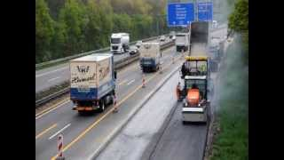 Cantiere autostrada in Germania