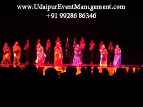 rajasthani folk dance artsit stage performance