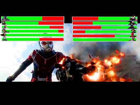 Captain America: Civil War - Airport Battle Scene Part 3 with healthbars