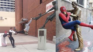 Hilarious Pics Of People Posing With Statues