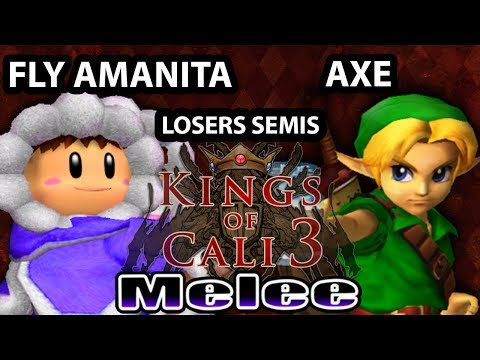 KoC3 - Axe (Young Link, Fox) Vs. Fly Amanita (Ice Climbers) SSBM Losers Semis smash Melee