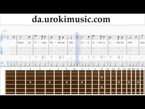 Guitarundervisning Silent Night Uddannelse Metode Del 2 Um-b246