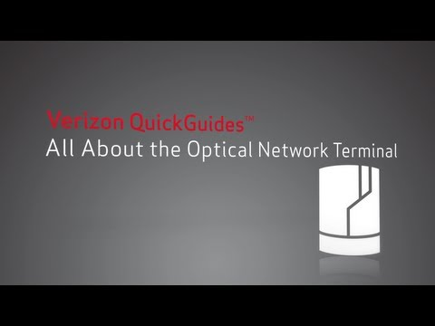About Your Optical Network Terminal (ONT)   QuickGuides