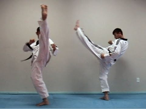 Kick Techniques Taekwondo Taekwondo Front Kick Tutorial