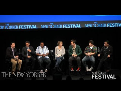 """""""Saturday Night Live"""" cast members at the 2010 New Yorker Festival"""