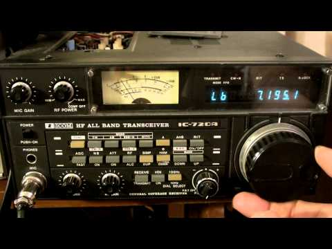ICOM 720A HAM HF Transceiver Radio IC-720A relay sticks  vid1