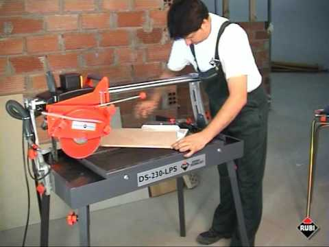 RUBI DS-230-LPS Cortadora eléctrica para porcelanico gres marmol/ Electric Saw for porcelain marble