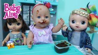BABY ALIVE Lulu And Nikki babysit Baby Born