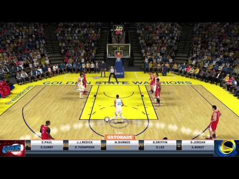 NBA 2K15 Xbox One Gameplay: Los Angles Clippers vs Golden State Warriors Full Game(First Game)