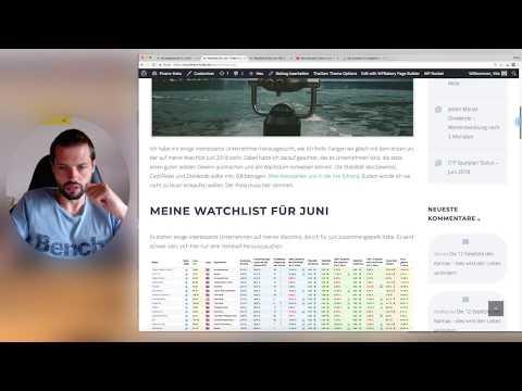 Aktien Watchlist - Juli 2018