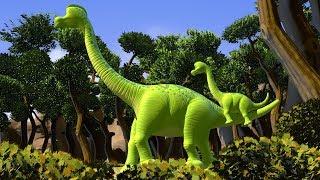 Dinosaur Songs | Brachiosaurus | Tyrannosaurus (T-Rex)  by FunForKidsTV Nursery Rhymes