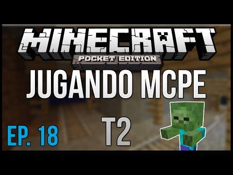 Jugando Minecraft Pocket Edition T2 EP. 18 CAZANDO BUGS MINI ZOMBIES MORTALES Dx