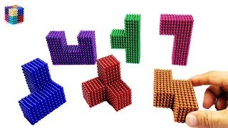 Tetris game with Magnet Balls | Magnetic Boy