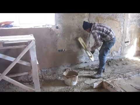 Штукатурка стен своими руками арболита 30