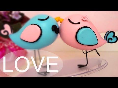 Passo A Passo Topo De Passarinhos Em Biscuit - Love Birds video