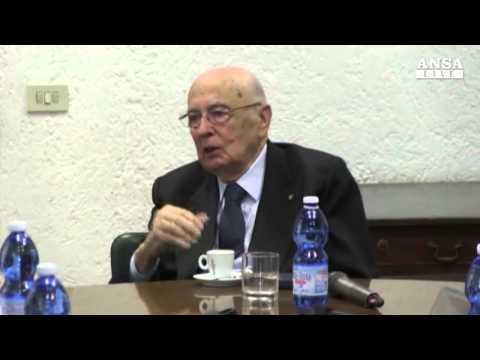 Giorgio Napolitano conferma l'imminente fine del suo mandato
