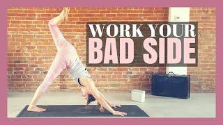 Yoga to Work Your Weak & Stiff Side! - 50 min Yoga Class