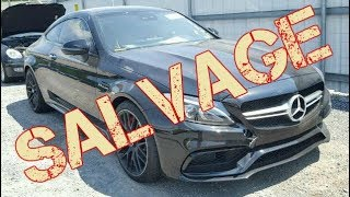 I BID on Autovlog's Mercedes C63S AMG at the Copart Salvage Auction (Hydrolocked)
