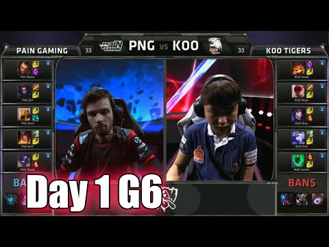paiN Gaming vs KOO Tigers | Day 1 Game 6 Group A LoL S5 World Championship 2015 | PNG vs KOO D1G6
