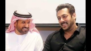 Salman Khan along with Saif Ahmed Belhasa- Inaugurates World