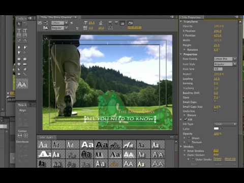 Fmc tutorial using title templates in premiere pro cs4 youtube for Adobe premiere title templates
