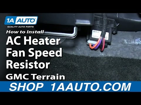 How To Install Replace AC Heater Fan Speed Resistor GMC Terrain Chevy Equinox