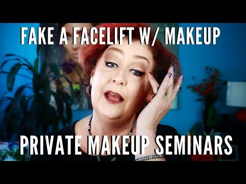 Learn How to Fake a Facelift with Makeup Step by Step Private Seminars | mathias4makeup