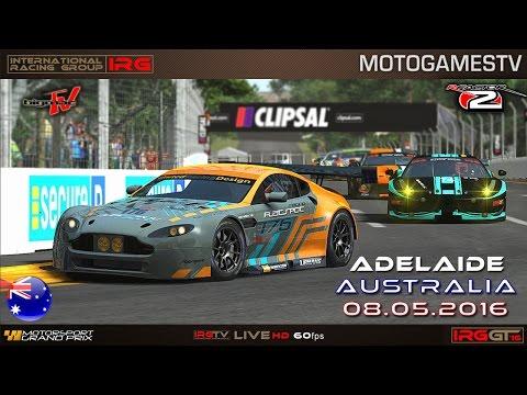 IRG World - rFactor 2 - IRG GT 2016 - Adelaide Grand Prix (Round 2) - 1080p60fps live stream