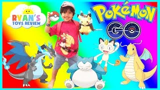 POKEMON GO IN REAL LIFE Catching Rare Pokemon Pikachu Charizard Dragonite Toys Hatch Egg PokeStop