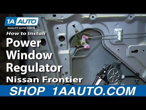 How To Install Replace Front Power Window Regulator 1998-04 Nissan Frontier and XTerra