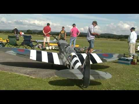 Worlds largest flying model Spitfire
