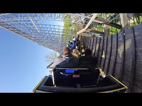 The Voyage Wooden Roller Coaster Back Seat POV 60 FPS Holiday World Indiana