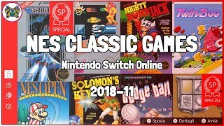 NES CLASSIC GAMES on Switch: November 2018 ⋆ Nintendo Switch Online ⊷ #gon_Plays