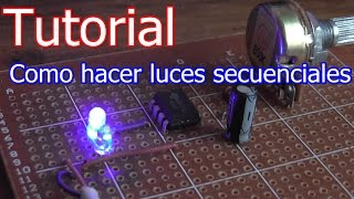 Luces secuenciales con leds timer 555